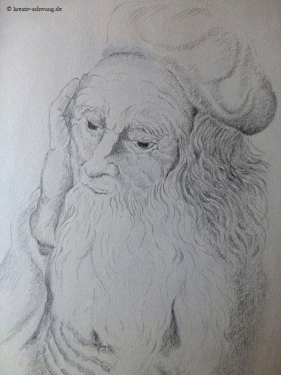 nach Vorlage v. Albrecht Dürer, ein Heiliger