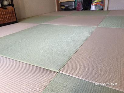 横浜市港南区の畳店 内藤畳店 普通の畳から琉球風の和紙畳に畳替え後