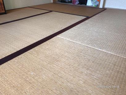 横浜市港南区の畳店 内藤畳店 畳替え前の畳