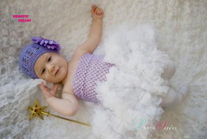 neugeborenen baby Mädchen Strick Mütze Set Outfit Strickmütze Blumenmütze Beanie mit großer Blume abnehmbar Fotografie Taufe Shooting Foto Set