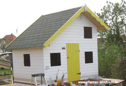 Kinderhaus Tom 2-stöckig selbst aufbauen Schlafplatz oben