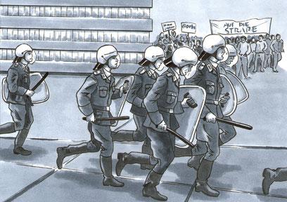 Comic Todesstreifen,Veröffentlichung der Stiftung Berliner Mauer