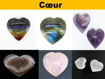 Cœur en pierre naturelle- Boutique de minéraux - Casa bien-être.fr