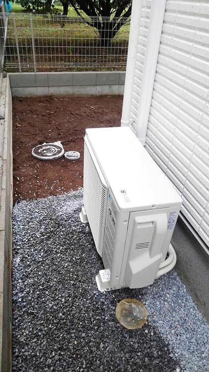 エアコン設置ビフォー1 鎌ヶ谷のリフォーム