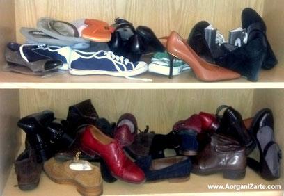 Zapatos desorganizados - www.AorganiZarte.com