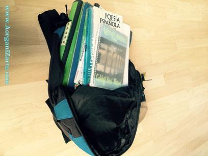 como organizar el material escolar en la mochila - Aorganizarte.com