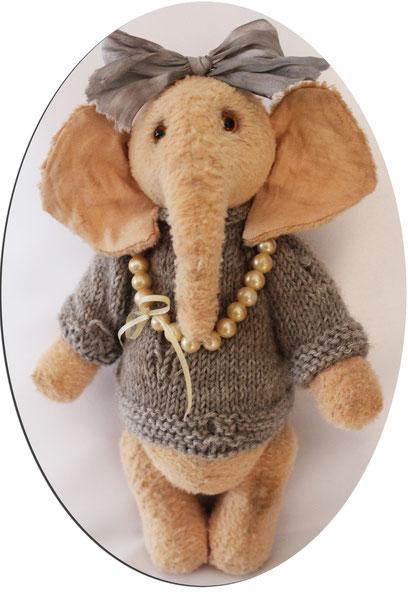 "Sammler Teddybären collectors Teddy Bears Elefant ""Elfi"" Handmade"
