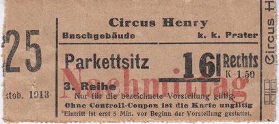 Circus Henry im Buschgebäude 1913