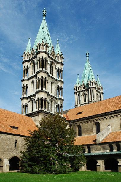 Naumburger Dom, Westtürme und Kreuzgang, 1. Hälfte des 13. Jh. (2.9.2006)