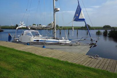 Anlegestelle des Yachthafens Lunegat