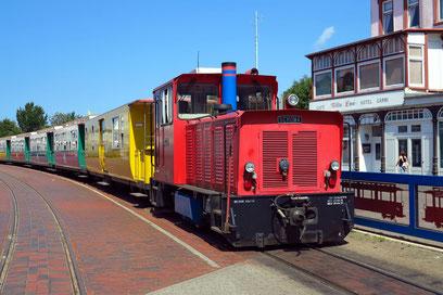 Inseleisenbahn zwischen Hafen und Borkum-Stadt