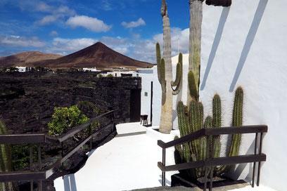 Austritt vom Wohnzimmer zur oberen Terrasse