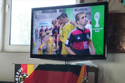 WM Fußballspiel Deutschland:USA (1:0)