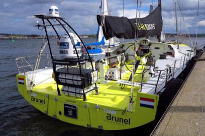 Rennyacht für die Regatta der Kieler Woche