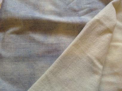 Stoffnummer WM42 (BIO WolleSeide, aufgerauht, Sommersweat, Denimlook)- unelastisch