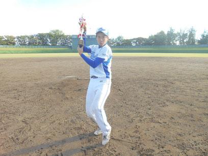 〈最優秀選手賞〉ミラクルパワーズ成田仁選手