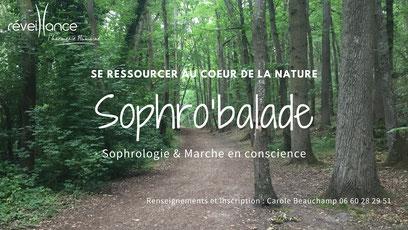 Sophro'balades de cet été organisées par Carole Beauchamp du cabinet Réveillance
