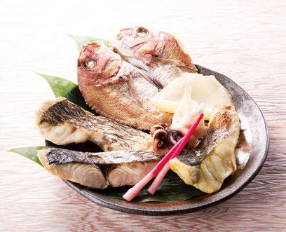 北木島の天然灰干し・とっと干し 季節のお魚セット (画像は調理例です)