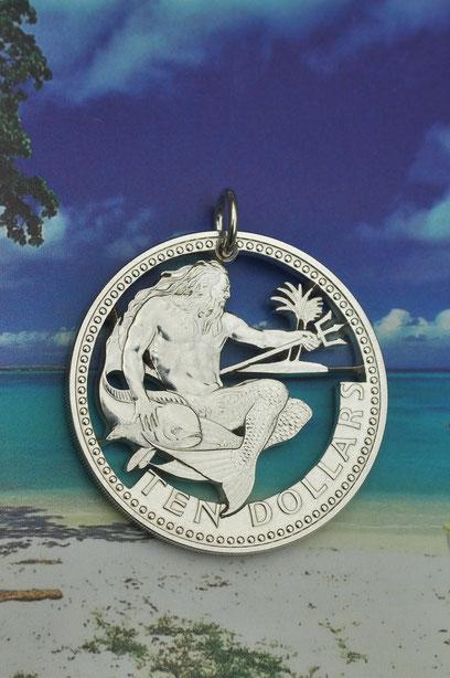 Münzsagewerk Katrin Thull | Barbados - Neptun Wassermann