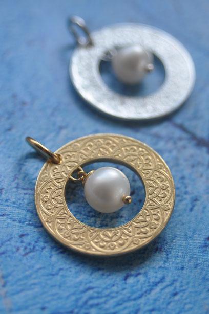 Münzsägewerk Katrin Thull | Marokko - Ring Ornament mit Perle