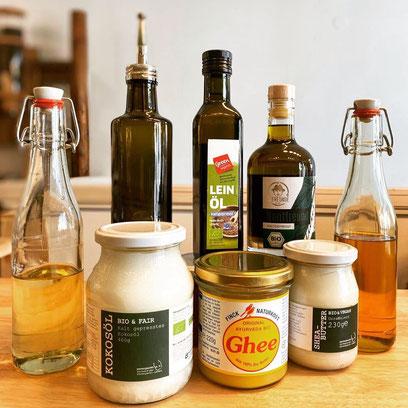 Gesunde Pflanzenöle und Fette