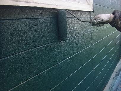 熊本T様家。上塗り 関西ペイント・防カビ・高耐久塗料使用。グリーンカラー