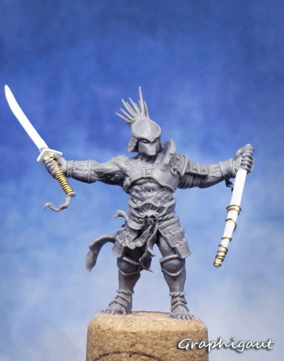 Graphigaut, Beesputty, handmade sculpture, Predator, 35mm, samouraï, shogun
