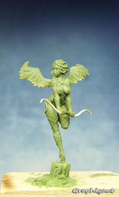 Cupidon, Saint Valentin, Valnetine's Day, 35mm, handmade sculpture, Fimo, Beesputty