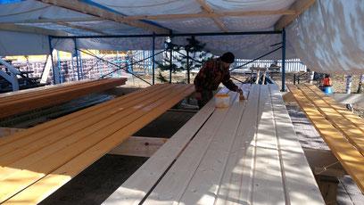 утепление деревянного дома, ле шале