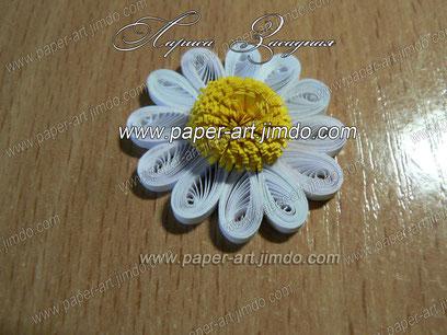 мастер класс квиллинг бумага цветок