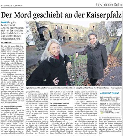 Westdeutsche Zeitung vom 15.01.2014, Ausgabe Düsseldorf, Kulturteil
