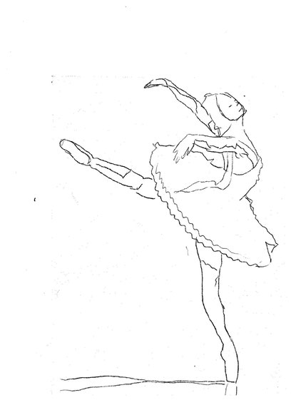 Tanzende Ballerina
