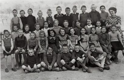Mittelstufe Wittnau 1948 (Lehrerin: Claire Villiger)