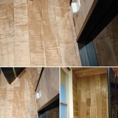 楓のフローリングと朴の壁板|タクミ建設株式会社|京町家改装|ウールブレス|京都大工