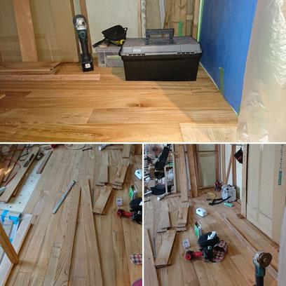 欅のフローリング|タクミ建設株式会社|京町家改装|ウールブレス|京都大工