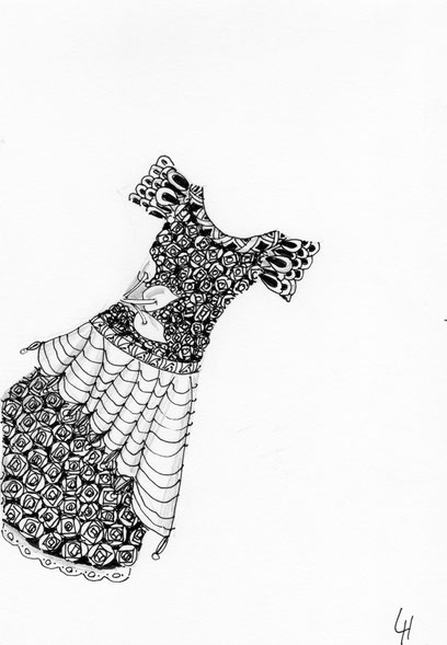 zentangle Traumkleid