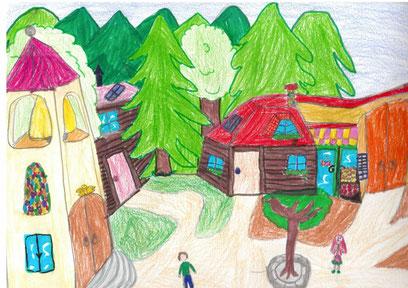 Disegno realizzato da Laura Falarez