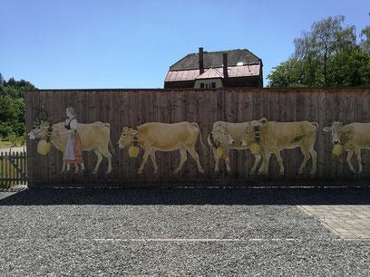 Zaun in der Brauereiwirtschaft HOFGUT FARNY