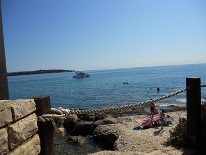 Strand am Camping Platz Sirena