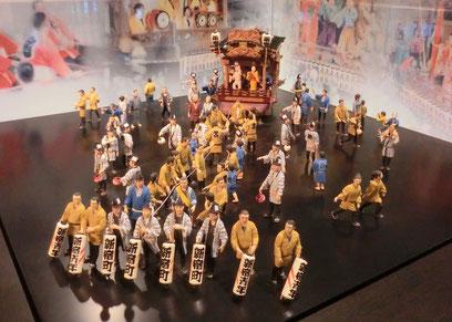 ●大國魂神社くらやみ祭の山車のミニチュア模型(府中市郷土の森博物館にて)