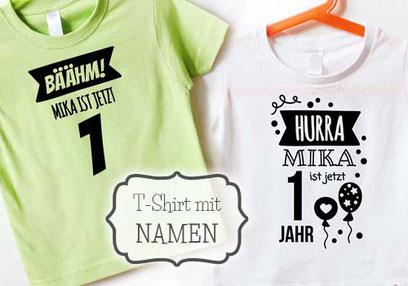 T-Shirts - Geburtstagsshirt mit Namen - nähfein