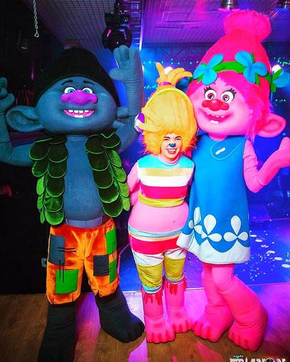 Шоу Троллей для детей на детский праздник и день рождения ребенка