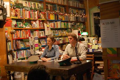 Szenische Lesung in der Buchhandlung am Schäfersee, 24.11.17