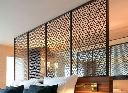 Dormitorios para hotel, Cabezal de cama para hotel combinado melamina y tapizado.