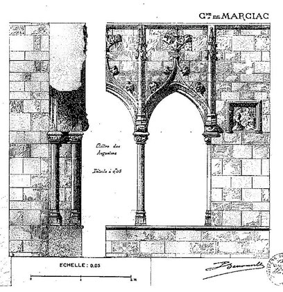 Croquis du cloître des Augustins de Marciac