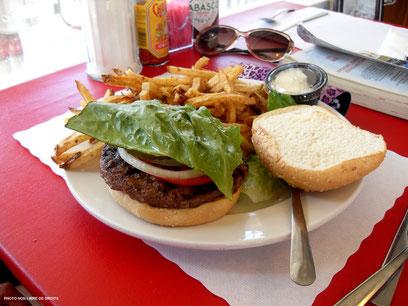 Hamburger made in USA, photo non libre de droits