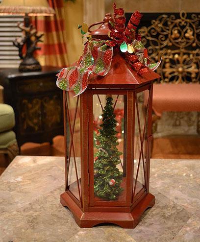 Новогодняя елка из фонарика