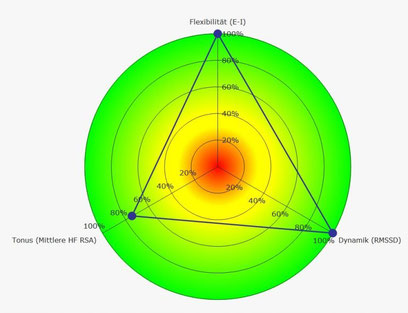 Rang-Diagramm RSA Messung guter Parasympathikus