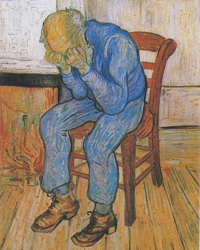 """V. Van Gogh, """"Sulla soglia dell'eternità"""""""