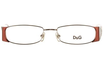 Occhiali da vista D&G 5021B. Colore: 033 rosso arancio. Calibro 50-17. Materiale: metallo.